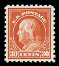 Stamps, (476A) 1916, 30¢ orange red...