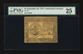 Colonial Notes:Continental Congress Issues, Continental Currency September 26, 1778 $5 PMG Very Fine 25.. ...