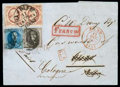 Stamps, Netherlands, 1852, 10¢ dark red plate II...