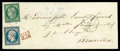 Stamps, France, 1850, 15c dark green Ceres and 1852 25c blue Republic...