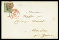Stamps, Switzerland, 1845, 5c black on yellow green Small Eagle...