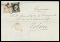 Stamps, Spain, 1851, 6c black and 12c lilac...