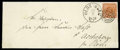 Stamps, Denmark, 1858, 4sk orange brown wavy line spandrels, privately rouletted 9½...
