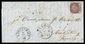Stamps, Denmark, 1863, 16sk lilac rouletted 11...