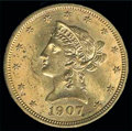 Stamps, 1907 Gold $10 Liberty...