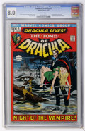 Bronze Age (1970-1979):Horror, Tomb of Dracula #1 (Marvel, 1972) CGC VF 8.0 White pages....