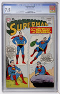 Silver Age (1956-1969):Superhero, Superman #137 (DC, 1960) CGC VF- 7.5 Cream to off-white pages....