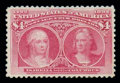 Stamps, (244a) 1893, $4 Columbian...