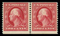 Stamps, (388) 1910, 2¢ carmine coil...