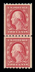Stamps, (391) 1910, 2¢ carmine coil...