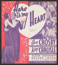 "Movie Posters:Musical, Musical Herald Lot (1930s). Heralds (4) (3.5"" X 5.5"") and (6"" X 9""). Musical.. ... (Total: 4 Items)"