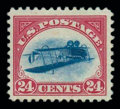 Stamps, (C3a) Airmail, 1918, 24¢ carmine rose & blue, centerinverted...