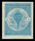 Stamps, (CL1) Airmail Semi-Official, 1877, 5¢ Buffalo Balloon...