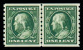 Stamps, (392) 1910, 1¢ green coil...