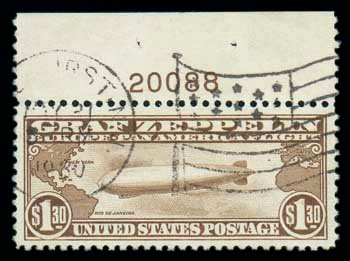 C14) Airmail, 1930, $1 30 Graf Zeppelin    Stamps | Lot