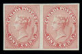 Stamps, (14a) 1859, 1¢ rose, imperforate...