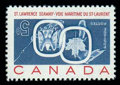 Stamps, (387a) 1959, 5¢ St. Lawrence Seaway, center inverted...