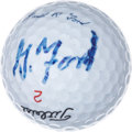 Golf Collectibles:Balls/Tees - Miscellaneous, Gerald Ford Signed Golf Ball....
