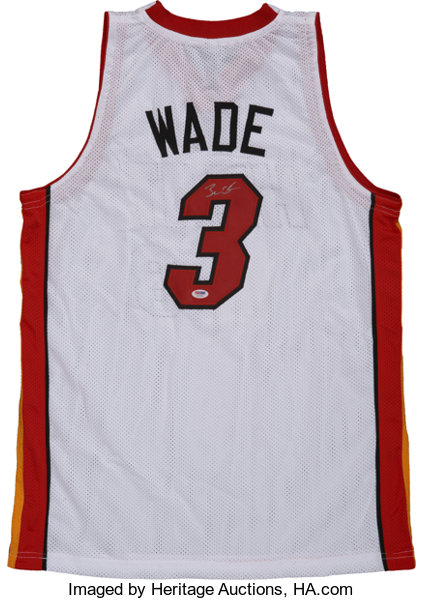 separation shoes 776e7 7827b Dwyane Wade Signed Jersey.... Basketball Collectibles ...