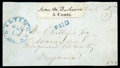Stamps, (3X1) Baltimore, Md., 1845, 5¢ black on white...