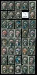 Stamps, (9X1) 5¢ N.Y. Postmaster's Provisional, complete reconstruction...