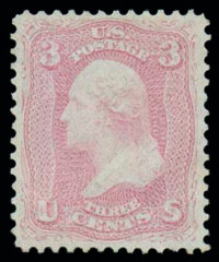 (64a) 1861, 3¢ pigeon blood pink