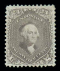 Stamps, (70a) 1862, 24¢ brown lilac...