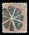 Stamps, (85C) 1867, 3¢ rose, Z. grill...
