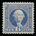 Stamps, (126) 1869 (1875 Re-issue), 6¢ blue...