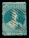Stamps, 1/- blue-green...