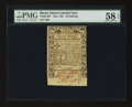 Colonial Notes:Rhode Island, Rhode Island May 1786 20s PMG Choice About Unc 58 EPQ.. ...