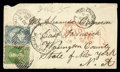 Stamps, 1/- dull yellow-green with 2d pale blue Plate I (worn)...