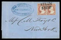 """Stamps, (11) """"Stmr Sierra Nevada, Via Nicaragua, Advance of the Mails""""..."""
