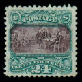 Stamps, (120a) 1869, 24¢ green & violet, without grill...