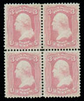 Stamps, (64) 1861, 3¢ pink...