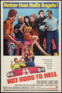 """Hot Rods to Hell (MGM, 1967). Poster (40"""" X 60""""). Cult Classic"""
