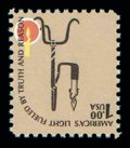 Stamps, (1610c) 1979, $1 Lamp, brown (candle flame) inverted...