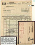 Stamps, Banking and Industry - I.G. Farben and Krupp Industries...