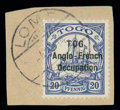 Stamps, (51a) 20 pf blue, narrow setting...