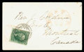 Stamps, (16) 1855, 10¢ green, type IV...