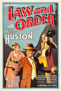 "Movie Posters:Western, Law and Order (Universal, 1932). One Sheet (27"" X 41"").. ..."