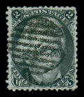 Stamps, (84) 1867, 2¢ black, D. grill...
