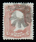 Stamps, (85) 1867, 3¢ rose, D. grill...