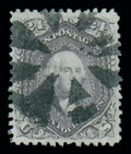 Stamps, (99) 1867, 24¢ gray lilac, F. grill...