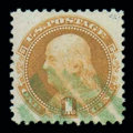 Stamps, (112) 1869, 1¢ buff...