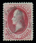 Stamps, (144) 1870, 90¢ carmine, grilled...
