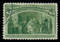 Stamps, (243a) 1893, $3 olive green...