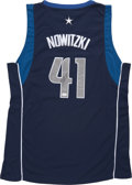 Basketball Collectibles:Uniforms, Dirk Nowitzki Signed Jersey....