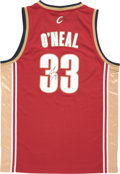 Basketball Collectibles:Uniforms, Shaquille O'Neal Signed Jersey....