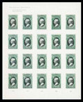 Stamps, (O1P4-O93P4) Officials, 1873 issues complete, plate proofs on card...
